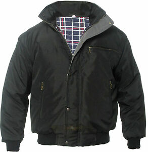 NEW MEN'S SKY DIVER BOMBER WORK WINTER PADDED WORK COAT JACKET