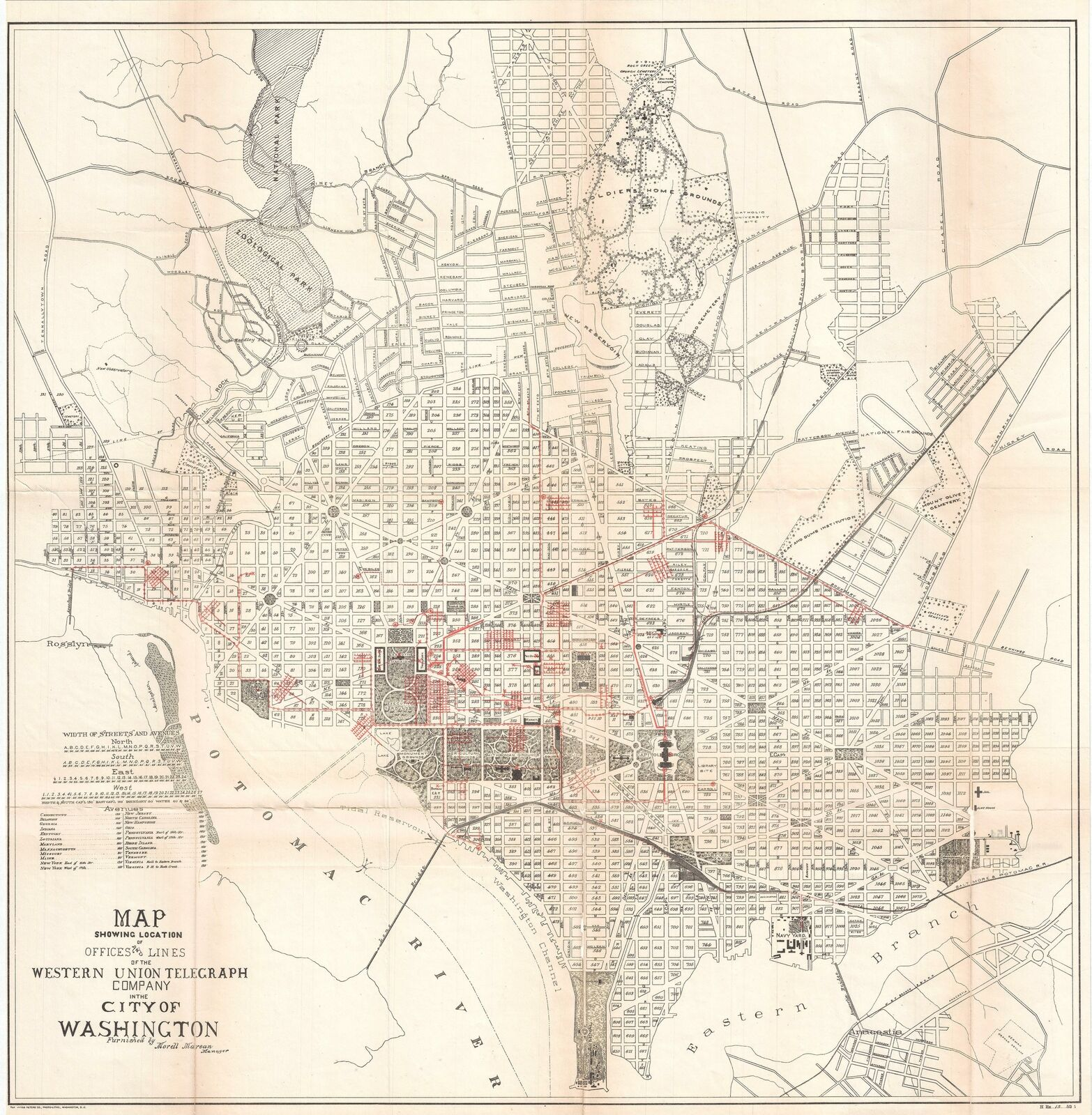 viaLibri ~ 1891 Norris Peters Map Of Washington D.c. Zeigt ...