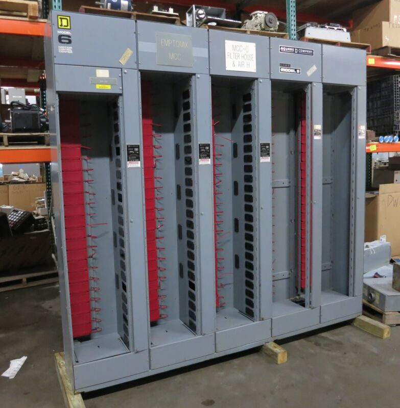 Square D Model 5/6 600/300 Amp MCC Motor Control Center 5x Section 600A 300A 480