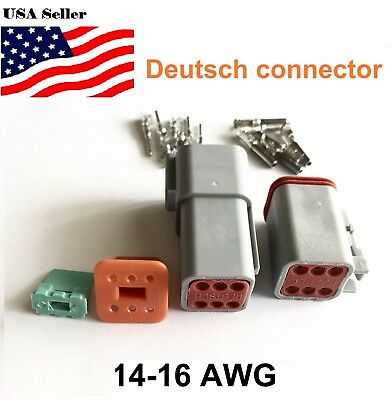 6 Pin Deutsch Dt06 Engine Gearbox Waterproof Electrical Connector