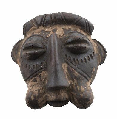 Masquette Bamoun Votive Mask Diminutive Terracotta Fetish Art African 879