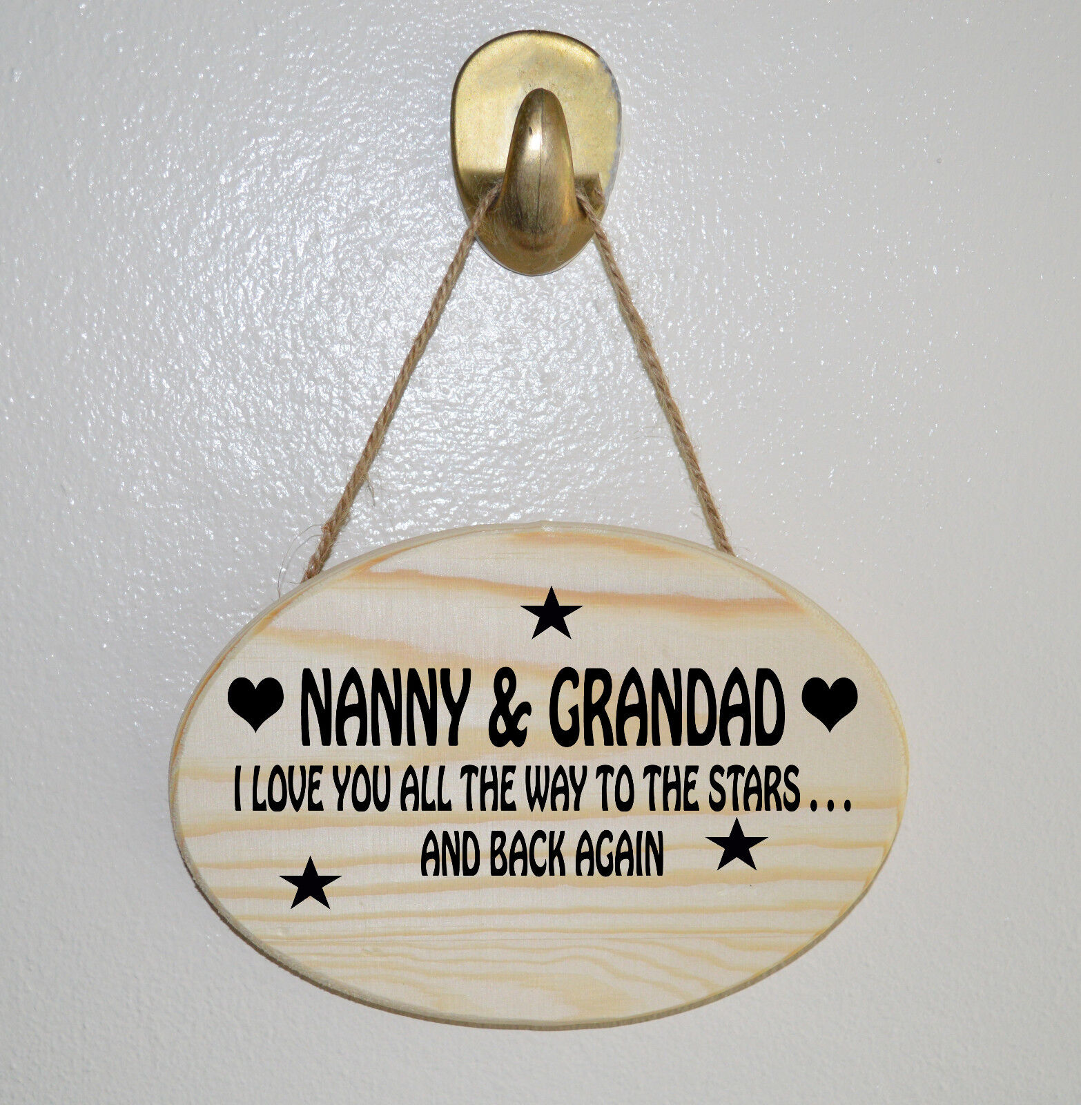 Personalised Love You To The Stars /& Back Plaque Nanny Grandad Mother/'s Day