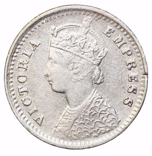 British India Queen Victoria 1900-B Silver 2 Annas KM#488