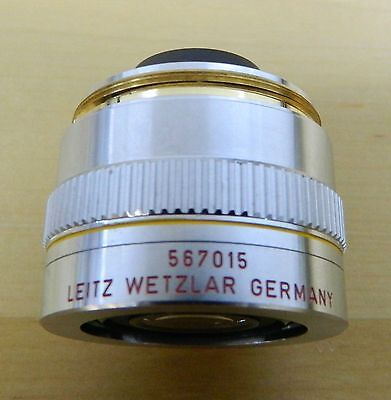 Leitz Wetzlar 10x Pl Fluotar Microscope Objective