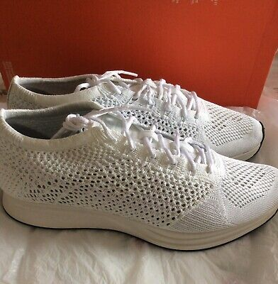 Nike Flyknit Racer Running Trainers 526628-100 UK7/US8