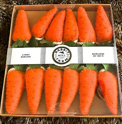 NEW RABBIT HILL FARM 6 FOOT PRIMITIVE EASTER CARROTS GARLAND  for sale  Temecula