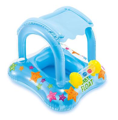 Intex Kiddie Float Baby Toddler Swimming Pool Raft Inflatable Seat with Sunshade
