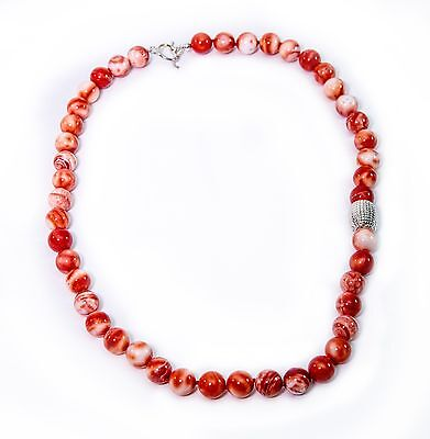 24 Coral Shell - Simon Sebbag Coral Shell Necklace Sterling Silver Bead NB120/CTDS24