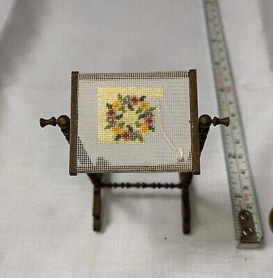 Minature Dolls House embroidery stand-dolls house minatures-vintage