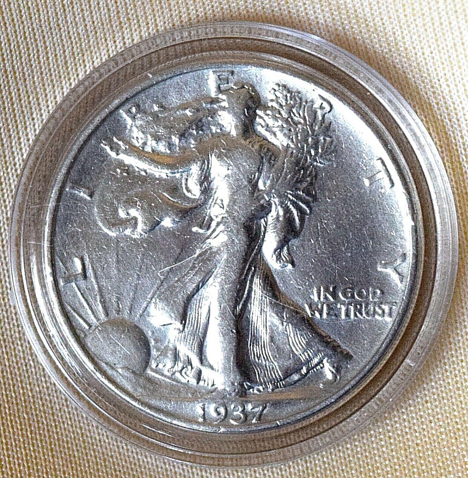 1937 LIBERTY WALKING SILVER COIN MONEY HALF DOLLAR XX - $18.00