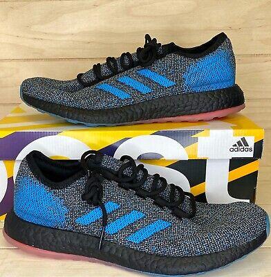 New  Size 8.5 Adidas PureBOOST LTD Boost Running Shoes Mens Blue Black B37811