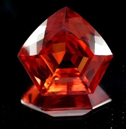 30.75 Ct Natural Ceylon Fanta Orange Sapphire Fancy Shield Cut Loose Gemstone