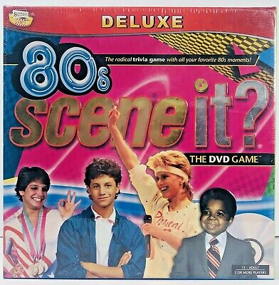 Scene It? 80s Deluxe Edition Trivia DVD Party Board Game NEW 1980's Theme Game