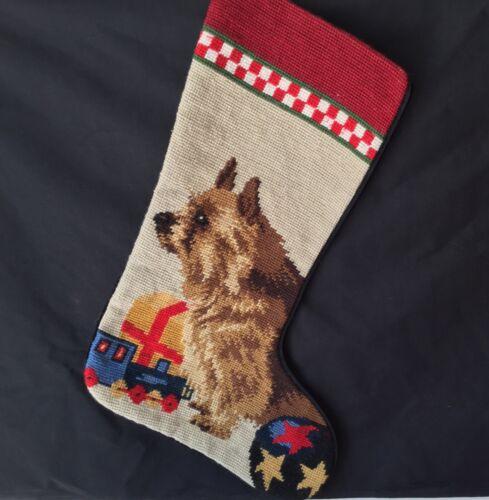 Norwich needlepoint stocking- not a kit LAST ONE!