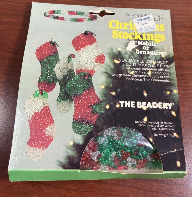Vintage 1981 The Beadery Ornament Kit Makes 5 Stockings
