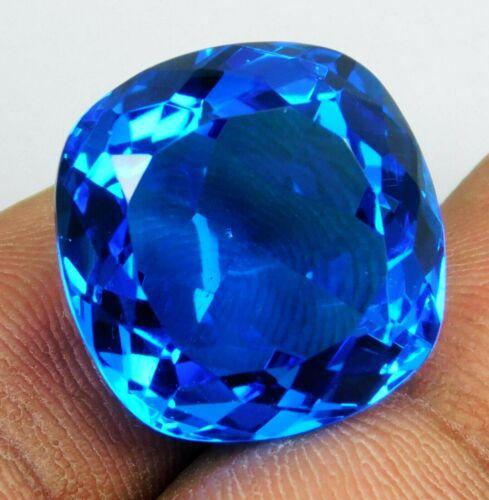 27.00 Ct Natural Cushion Shape Translucent Blue Topaz Loose Gemstone