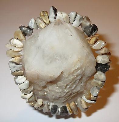 Amazing Powerful Crop Circle Stone Natural Energy Work Crystal Bracelet