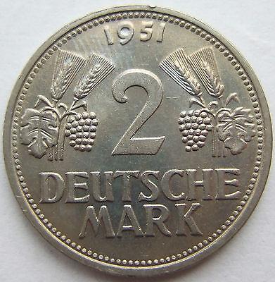 TOP! 2 DM 1951 G in VORZÜGLICH / STEMPELGLANZ SELTEN !!!