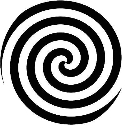 Hypnosis Spiral Decal Sticker Choose Design Size And Color For Walls Car Laptop