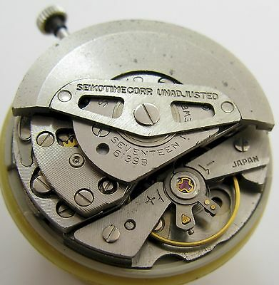 Dainiseikosha Seiko 6139 B watch automatic chronograph Movement for parts ...