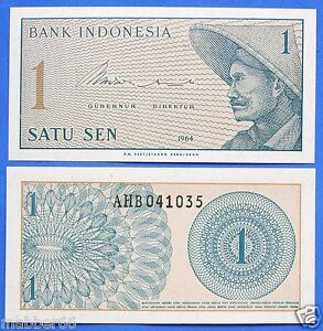 UNC-CRISP-NEW-1-SATU-SEN-INDONESIA-BANKNOTE-1964-ASIA-WORLD-PAPER-MONEY-CURRENCY