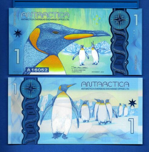 Antarctica $1 One Dollar December 2015 Polymer Uncirculated Banknote