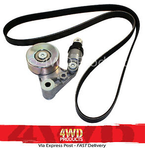 Drive-Belt-Tensioner-Pulley-Belt-SET-Patrol-GU-3-0TDi-ZD30-DDI-00-07