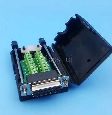 Db15 Female D-sub 2 Row 15pin Plug Breakout Terminal Solderless Connector Screw