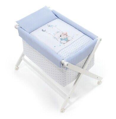 Interbaby Vestidura de Minicuna Plegable Oso Columpio Azul No Incluye Estructura