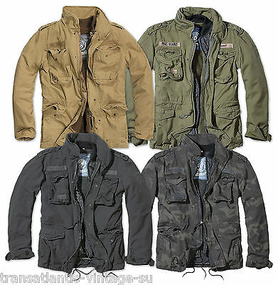 BRANDIT M65 GIANT MENS MILITARY PARKA US ARMY JACKET WINTER WARM ZIP OUT LINER