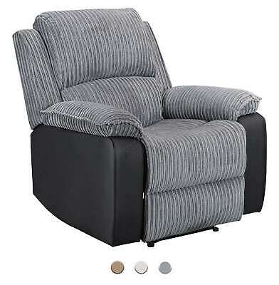 WestWood Fabric Manual Recliner Sofa Faux Leather Armchair Lounge Cinema Chair