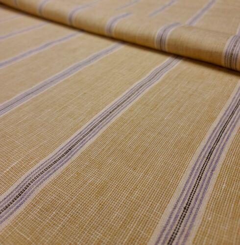 Rose Cumming Fabric 5603/04 Wyeth Stripe/Mustard/Lavender (1.9 Yards)