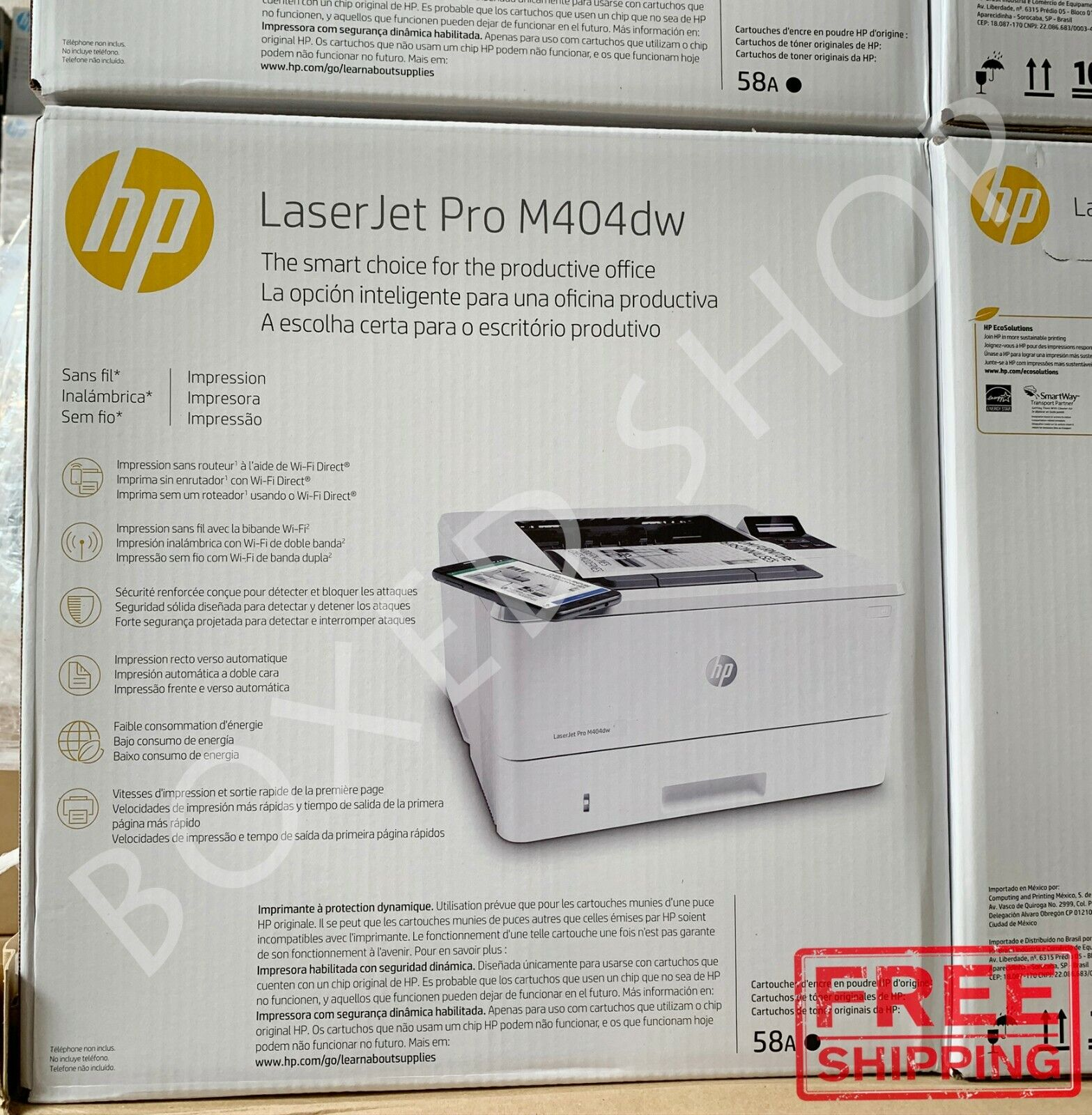 BRAND NEW HP LaserJet Pro M404dw Printer