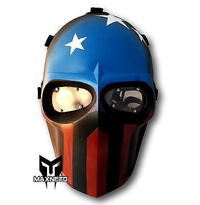 MAXNETO Tactical Airsoft Paintball BB Gun Protective Gear Helmet Mask Captain