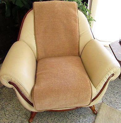 Sesselschoner - 1 Stück Sesselauflage Überwurf,  Alpacawolle 50x200