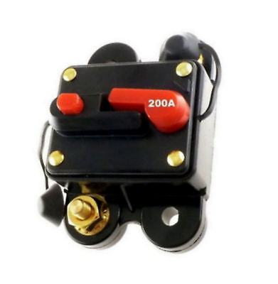 Scosche 200 AMP 12 Volt Circuit Breaker Fuse Holder Car Audio Stereo Reset