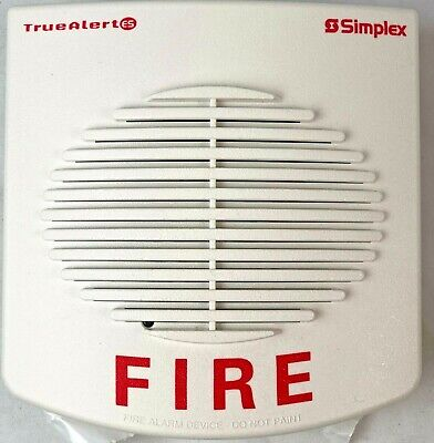Simplex 49ao-wwf Wall Mount Addressable Electronic Horn White Fire
