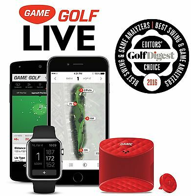 GAME GOLF LIVE DIGITAL GPS TRACKER RECORDS CLUB SHOT DATA VIEW INSTANTLY MOBILE