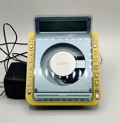 Sony Dream Machine ICF-CD855V CD Alarm Clock Radio. Works Perfect
