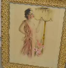 art deco gold framed picture - antique boudoir dolls - stunning! Greensborough Banyule Area Preview