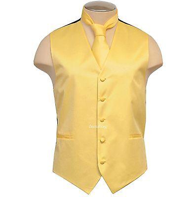 New BRAND Q Formal Men's Polyester Vest tuxedo waistcoat & N