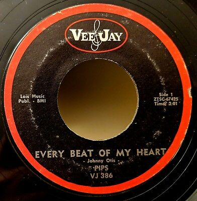 R&B SOUL 45: THE PIPS (Gladys Knight) Every Beat of My Heart VEE-JAY VJ 386 for sale  Shipping to Canada
