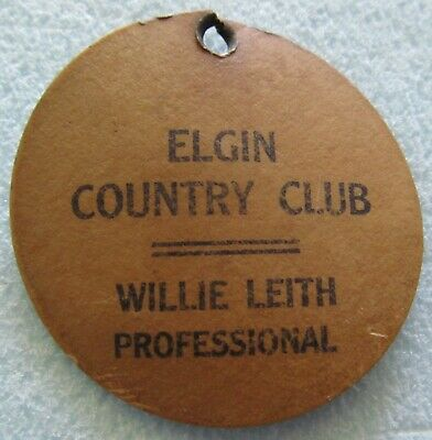 1930s Handbags and Purses Fashion VINTAGE BAG TAG FROM THE ELGIN COUNTRY CLUB, WILLIE LEITH PROFESSIONAL   1930'S $18.00 AT vintagedancer.com
