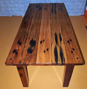 Dining Table Recycled Railway Sleeper Boards Victoria Point Redland Area Preview