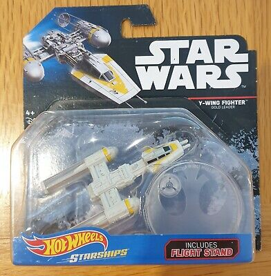 """Hot Wheels Star Wars Starships """"BLACK CARD"""" Series - Y-Wing Fighter Gold Leader"""