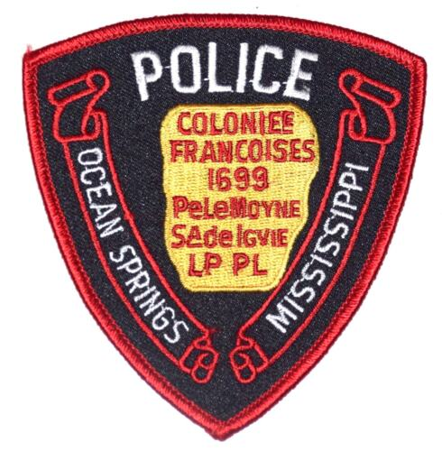 OCEAN SPRINGS MISSISSIPPI MS Police Sheriff Patch FRENCH COLONY ~