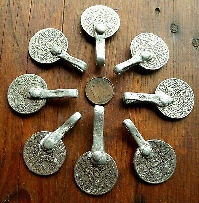 46mm Pendant Coin Metal Antique Berber Morocco Antique Moroccan Coin Pendant 2