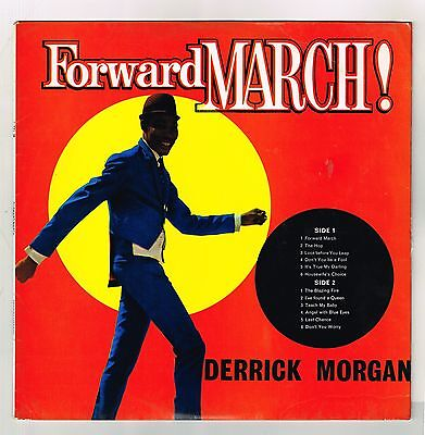 DERRICK MORGAN-forward march!   LP  trojan    (hear)   boss reggae  ska