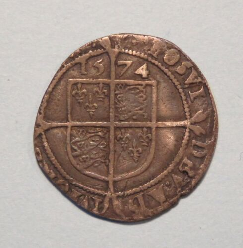 1574 Great Britain 6 Pence Silver Coin Queen Elizabeth I Sixpence England UK