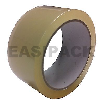 72 x INDUSTRIAL Rolls Of CLEAR Parcel Tape Packing sellotape Packaging 48mm x66m
